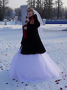 Saint Petersburg, Russia, Winter wedding at minus 25 Celsius