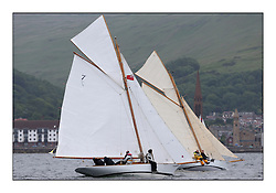 Day one of the Fife Regatta, Round Cumbraes Race.<br /> <br /> Fiona, Didier Cotton, FRA, Gaff Cutter, Wm Fife 3rd, 2005 and Oblio, Gordon Turner, GBR, Gaff Cutter, Wm Fife 3rd, 2007<br /> <br /> * The William Fife designed Yachts return to the birthplace of these historic yachts, the Scotland's pre-eminent yacht designer and builder for the 4th Fife Regatta on the Clyde 28th June–5th July 2013<br /> <br /> More information is available on the website: www.fiferegatta.com