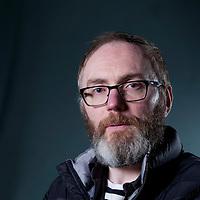 Stuart David, the Scottish musician, songwriter and novelist, at the Edinburgh International Book Festival 2015.<br /> Edinburgh, Scotland. 28th August 2015 <br /> <br /> Photograph by Gary Doak/Writer Pictures<br /> <br /> WORLD RIGHTS
