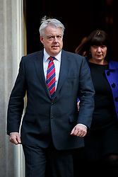 © Licensed to London News Pictures. 05/04/2016. London, UK. Wales First Minister CARWYN JONES attending a meeting to discuss potential buyers of Tata Steel plants with Prime Minister David Cameron in Downing Street on Tuesday, 5 April 2016. Photo credit: Tolga Akmen/LNP
