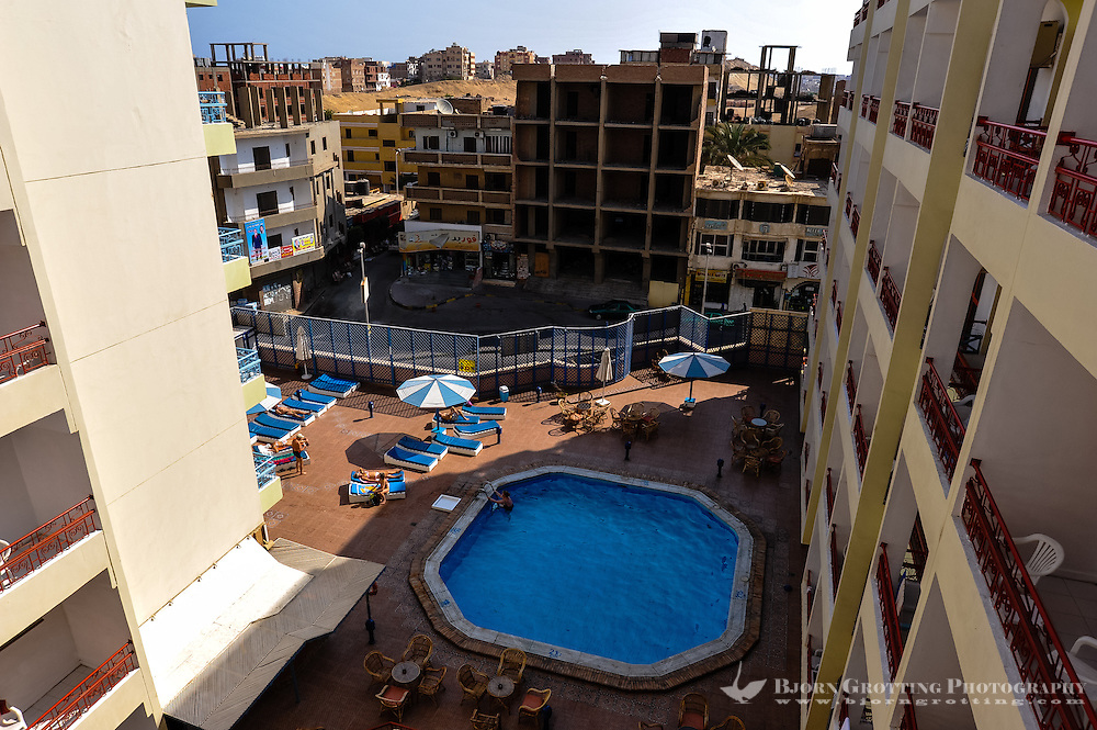 Egypt, Hurghada. View from the room at Triton Empire.