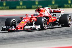 October 20, 2017 - Austin, Texas, U.S - Ferrari driver Kimi Raikkonen (7) of Finland in action before the Formula 1 United States Grand Prix race at the Circuit of the Americas race track in Austin,Texas. (Credit Image: © Dan Wozniak via ZUMA Wire)