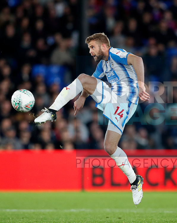 Huddersfield's Martin Cranie in action during the Carabao cup match at Selhurst Park Stadium, London. Picture date 19th September 2017. Picture credit should read: David Klein/Sportimage