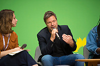 DEU, Deutschland, Germany, Berlin, 24.11.2018: Jamila Schäfer, Vice Chair of Alliance 90 / The Greens, Robert Habeck, Co-chair Alliance 90 / The Greens. Council of the European Green Party (EGP council) at Deutsche Telekom Representative Office.