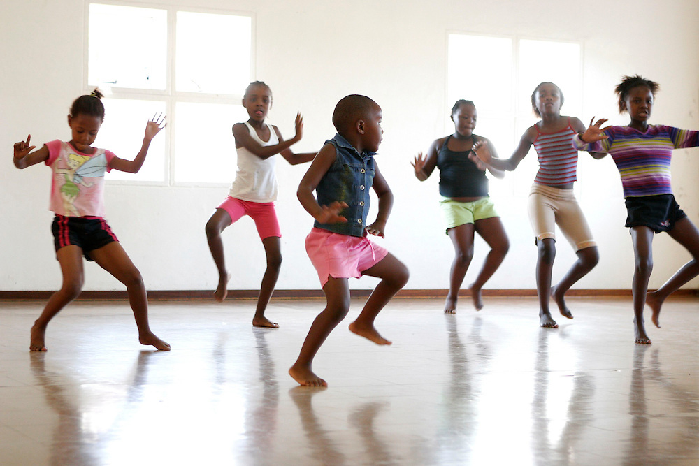 children dancing, Soweto Community Dance Project