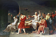 The Death of Socrates'  1787:  Jacques Louis David (1748-1825) French historical painter.  Oil on canvas
