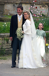 LAURA PARKER BOWLES and HARRY LOPES  at the wedding of Laura Parker Bowles to Harry Lopes held at Lacock, Wiltshire on 6th May 2006.<br /><br />NON EXCLUSIVE - WORLD RIGHTS
