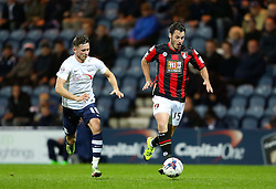 Alan Browne of Preston North End chases Adam Smith of Bournemouth  - Mandatory byline: Matt McNulty/JMP - 07966386802 - 22/09/2015 - FOOTBALL - Deepdale Stadium -Preston,England - Preston North End v Bournemouth - Capital One Cup - Third Round