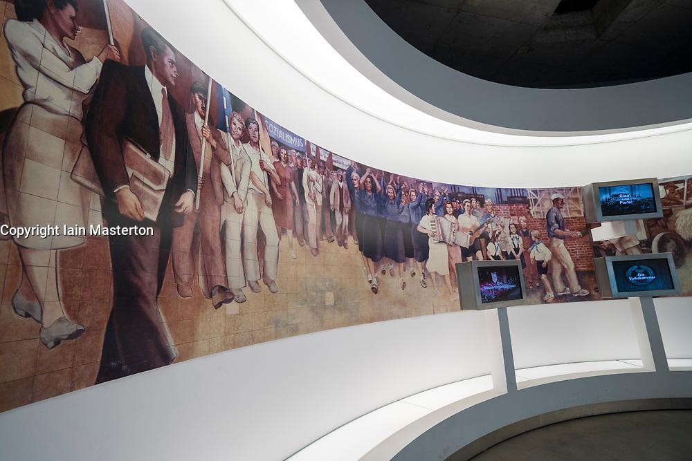 Exhibits inside the Parliamentary Historical Exhibition of the German Bundestag (Parlamentshistorische Ausstellung des Deutschen Bundestages) at Gendarmenmarkt in Berlin, Germany
