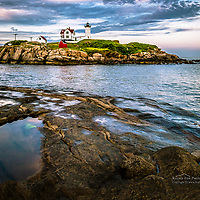 The Nubble Lighthouse, York, ME.<br /> <br /> Please ORDER BY December 10, 2012 to ensure delivery before Christmas.<br /> <br /> All Content is Copyright of Kathie Fife Photography. Downloading, copying and using images without permission is a violation of Copyright.