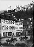 Incredible Photos Capture Everyday Life of Germany in the Early 1880s <br /> <br /> Carl Curman (1833 – 1913) was a Swedish physician and a scientist - as well as a prominent amateur photographer. He did a lot of travelling abroad in Europe, mainly to study health resorts, but also to study art and architecture. These  Incredible photos  were taken in Germany in the early 1880s when he traveled there.<br /> <br /> Photo shows: The Kornmarkt in Heidelberg with horse carriages, 1881<br /> ©Swedish National Heritage Board/Exclusivepix Media