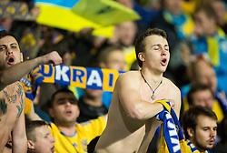 Supporters of Ukraine celebrate after the UEFA EURO 2016 Play-off for Final Tournament, Second leg between Slovenia and Ukraine, on November 17, 2015 in Stadium Ljudski vrt, Maribor, Slovenia. Photo by Vid Ponikvar / Sportida