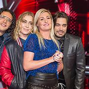 NLD/Hilversum/20180126 - The Voice of Holland 2017 show 1, Coaches Ali B, Anouk, Sanne Hansen, Waylon