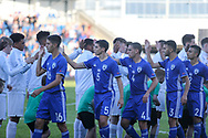 teams handshake during the UEFA European Under 17 Championship 2018 match between England and Israel at Proact Stadium, Whittington Moor, United Kingdom on 4 May 2018. Picture by Mick Haynes.