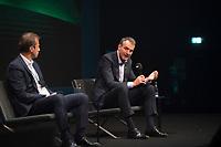 DEU, Deutschland, Germany, Berlin, 06.10.2020: Guillaume Faury<br /> (CEO Airbus) und Bernhard Looney<br /> (CEO BP) beim Tag der Industrie (TDI) des Bundesverbands der Deutschen Industrie (BDI) in der Verti Music Hall.