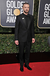 Justin Timberlake at the 75th Golden Globe Awards held at the Beverly Hilton in Beverly Hills, CA on January 7, 2018.<br /><br />(Photo by Sthanlee Mirador)