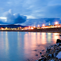 Rocky Waterville Beach Panorama at Night with View on Ballinskelligs Bay, County Kerry, Ireland / wv031