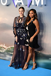 Laura Crane (left) and Samira Mighty attending the Aquaman premiere held at Cineworld in Leicester Square, London.