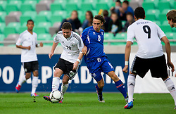 Marc Stendera of Germany vs Oliver Sigurjonsson of Iceland during the UEFA European Under-17 Championship Group A match between Iceland and Germany on May 7, 2012 in SRC Stozice, Ljubljana, Slovenia. Germany defeated Iceland 1-0. (Photo by Vid Ponikvar / Sportida.com)
