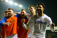 Leeds United's Tyler Roberts celebrates with Patrick Bamford after he made it 3-0<br /> <br /> Photographer Alex Dodd/CameraSport<br /> <br /> The EFL Sky Bet Championship - Leeds United v West Bromwich Albion - Friday 1st March 2019 - Elland Road - Leeds<br /> <br /> World Copyright © 2019 CameraSport. All rights reserved. 43 Linden Ave. Countesthorpe. Leicester. England. LE8 5PG - Tel: +44 (0) 116 277 4147 - admin@camerasport.com - www.camerasport.com