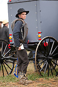 Amish man during the Annual Mud Sale to support the Fire Department  in Gordonville, PA.