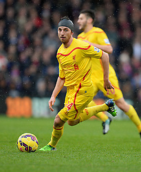 Liverpool's Joe Allen - Photo mandatory by-line: Alex James/JMP - Mobile: 07966 386802 - 23/11/2014 - Sport - Football - London -  - Crystal palace  v Liverpool - Barclays Premier League