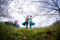 Heeki Park, Michiyo Toyojima, Keiko Iwaasa, Aya Iijima at Maizuru Park, Fukuoka - Japan