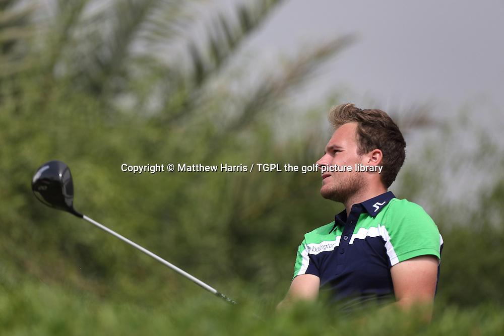 Tyrrell HATTON (ENG) during fourth round HSBC Abu Dhabi Championship 2014,Abu Dhabi Golf Club,Abu Dhabi,UAE.