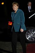 Koning Willem Alexander en Koningin Maxima ontvangen  de delegatieleiders van de Nuclear Security Summit (NSS) voor een diner op Paleis Huis Ten Bosch in Den Haag.<br /> <br /> King Willem Alexander and Queen Maxima receive the heads of delegation of the Nuclear Security Summit (NSS) for a dinner at the palace Huis Ten Bosch in The Hague.<br /> <br /> Op de foto / On the photo:  De Duitse bondskanselier Angela Merkel / German Chancellor Angela Merkel