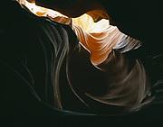 Flowing tapestry of Navajo Sandstone, slickrock slot canyon, Colorado Plateau.  PW