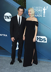 Michelle Williams and Thomas Kail at the 26th Annual Screen Actors Guild Awards held at the Shrine Auditorium in Los Angeles, USA on January 19, 2020.