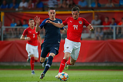 11.06.2019, Profertil Arena, Hartberg, AUT, Testspiel, U21, Oesterreich vs Frankreich, im Bild Anthony Caci (FRA) und Husein Balic (AUT) // Anthony Caci (FRA) and Husein Balic (AUT) during the International U21 Friendly Football Match between Austria and France at the Profertil Arena in Hartberg, Austria on 2019/06/11. EXPA Pictures © 2019, PhotoCredit: EXPA/ Erwin Scheriau