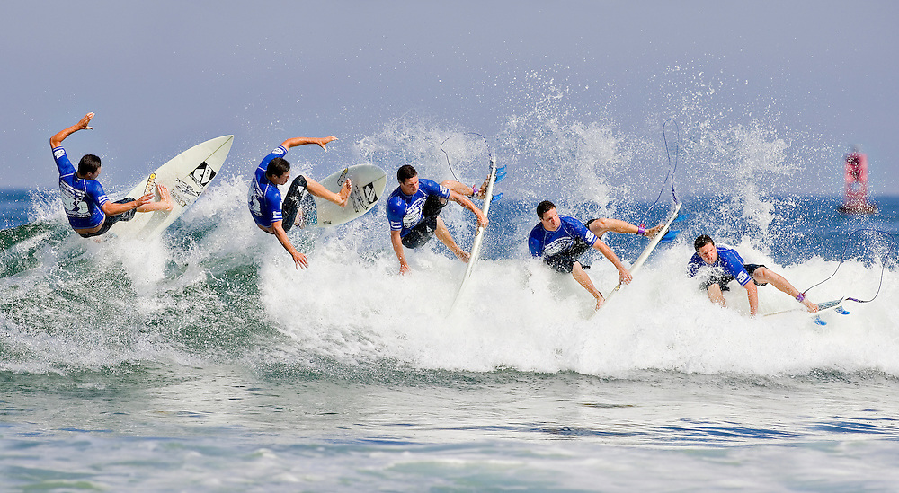 August, 29, 2010; Virginia Beach, VA, USA; A sequence surf shot from the 2010 ECSC. Mandatory Credit: Peter J. Casey