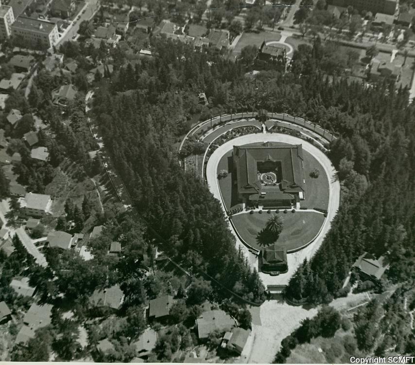 1935 Aerial photo of the Bernheimer Estate. Now the Yamashiro