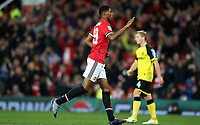 Football - 2017 / 2018 EFL (League) Cup - Third Round: Manchester United vs. Burton Albion<br /> <br /> Jesse Lingard of Manchester United celebrates scoring his second goal at Old Trafford.<br /> <br /> COLORSPORT/LYNNE CAMERON