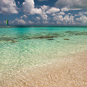 Crystal clear waters of Grace Bay in Providenciales, Turks & Caicos