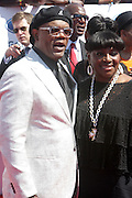 June 30, 2012-Los Angeles, CA : (L-R) Actor Samuel Jackson and Actress Latanya Richardson attend the 2012 BET Awards held at the Shrine Auditorium on July 1, 2012 in Los Angeles. The BET Awards were established in 2001 by the Black Entertainment Television network to celebrate African Americans and other minorities in music, acting, sports, and other fields of entertainment over the past year. The awards are presented annually, and they are broadcast live on BET. (Photo by Terrence Jennings)