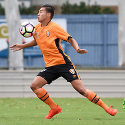 BRISBANE, AUSTRALIA - DECEMBER 10: Dane Ingham of the Roar controls the ball during the round 5 Foxtel National Youth League match between the Brisbane Roar and Adelaide United at AJ Kelly Field on December 10, 2016 in Brisbane, Australia. (Photo by Patrick Kearney/Brisbane Roar)