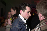 """Welsh actor, <br />Mathew Rhys. Movie called """" Tabloid TV """" charity party in aid of  The Rainforest Foundation. Brick lane. London  25 January 2001. © Copyright Photograph by Dafydd Jones 66 Stockwell Park Rd. London SW9 0DA Tel 020 7733 0108 www.dafjones.com"""
