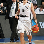 Besiktas's Can Akin during their BEKO Basketball League match Besiktas between Galatasaray at the Sinan Erdem Arena in Istanbul at Turkey on Saturday, December, 17, 2011. Photo by TURKPIX