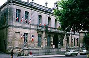Town hall building in Uzès, Uzes, France 1975