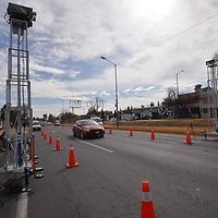 TOLUCA, México.- (Enero 26, 2018).- La Secretaría de Medio Ambiente del Estado de México en coordinación con el Instituto Mario Molina, el Instituto Mexicano del Petróleo y el Instituto Nacional de Energía y Cambio Climático llevaran a cabo en el Valle de Toluca un sistema de detección remota de las emisiones contaminantes de vehículos de gasolina y diésel. Agencia MVT / Crisanta Espinosa.