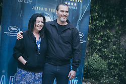 April 27, 2018 - Rome, Italy - Director Lynne Ramsay and actor Joaquin Phoenix attend  'A Beautiful Day' photocall at Hotel De Russie on April 27, 2018 in Rome, Italy. (Credit Image: © Luca Carlino/NurPhoto via ZUMA Press)