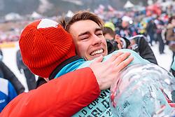 26.03.2017, Planica, Ratece, SLO, FIS Weltcup Ski Sprung, Planica, Siegerehrung, im Bild Michael Hayboeck (AUT), Gesamtweltcup- und Skiflug Weltcup Sieger Stefan Kraft (AUT) // Michael Hayboeck of Austria Overall World Cup and Ski Flying World Cup winner Stefan Kraft of Austria during the Winner Award Ceremony of the FIS Ski Jumping World Cup Final 2017 at Planica in Ratece, Slovenia on 2017/03/26. EXPA Pictures © 2017, PhotoCredit: EXPA/ JFK