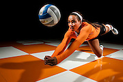 KNOXVILLE,TN - AUGUST 12, 2015 - Defensive specialist Bridgette Villano #8 of the  Tennessee Volunteers Women's Volleyball 2015 Photo Shoot. Photo By Craig Bisacre/Tennessee Athletics