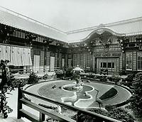 1918 Interior courtyard of The Bernheimer Residence. Now Yamashiro Restaurant in Hollywood