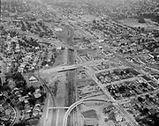 Y-560824-05. NE Sandy, NE Broadway and NE 39th, Banfield construction, looking east. August 24, 1956