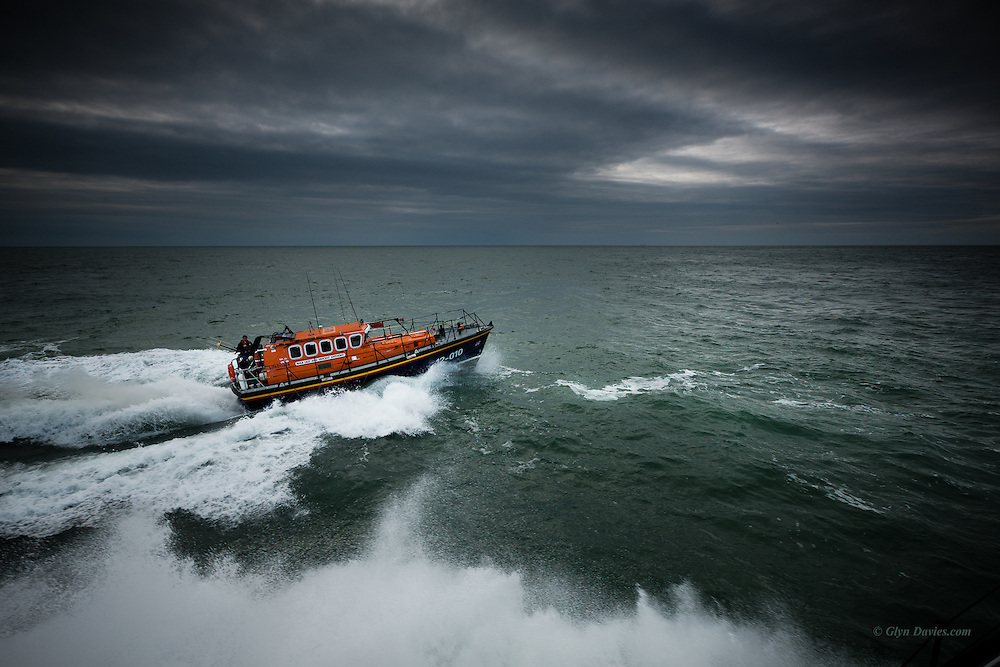 Nominated in 10th (2017) International Colour Awards (Fine Art category) <br /> <br /> RNLB Lilly & Vincent Anthony <br /> <br /> Trent Class Lifeboat on temporary loan to Holyhead Lifeboat station<br /> <br /> One of a series of images from my RNLI working project over the next year or so with Holyhead Lifeboat Station and Crew.