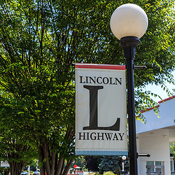 York, PA – June 25, 2016: The Lincoln Highway banner at the Turkey Hill Market.