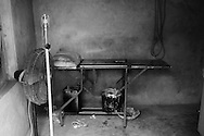 A delivery room at home of a local dai (traditional midwife) shows the poor and unhygienic conditions in which a majority of women deliver their babies in the rural areas. <br /> Lack of skilled medical help and extremely poor hygienic conditions are some of the major causes of complications during childbirth and the high maternal and neonatal mortality rate in Pakistan. Kandiaro, Pakistan 2010